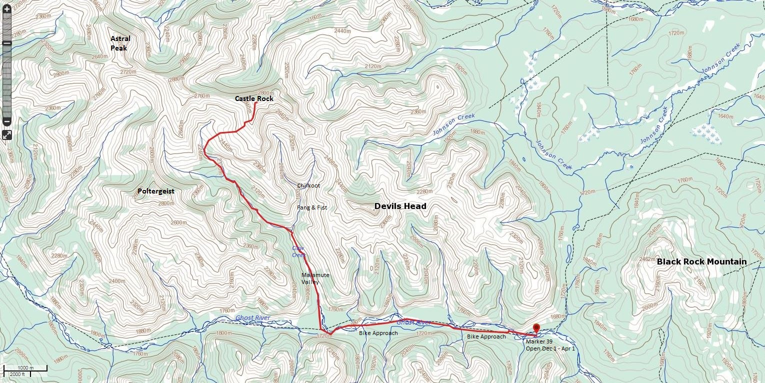 Castle Rock Route Map