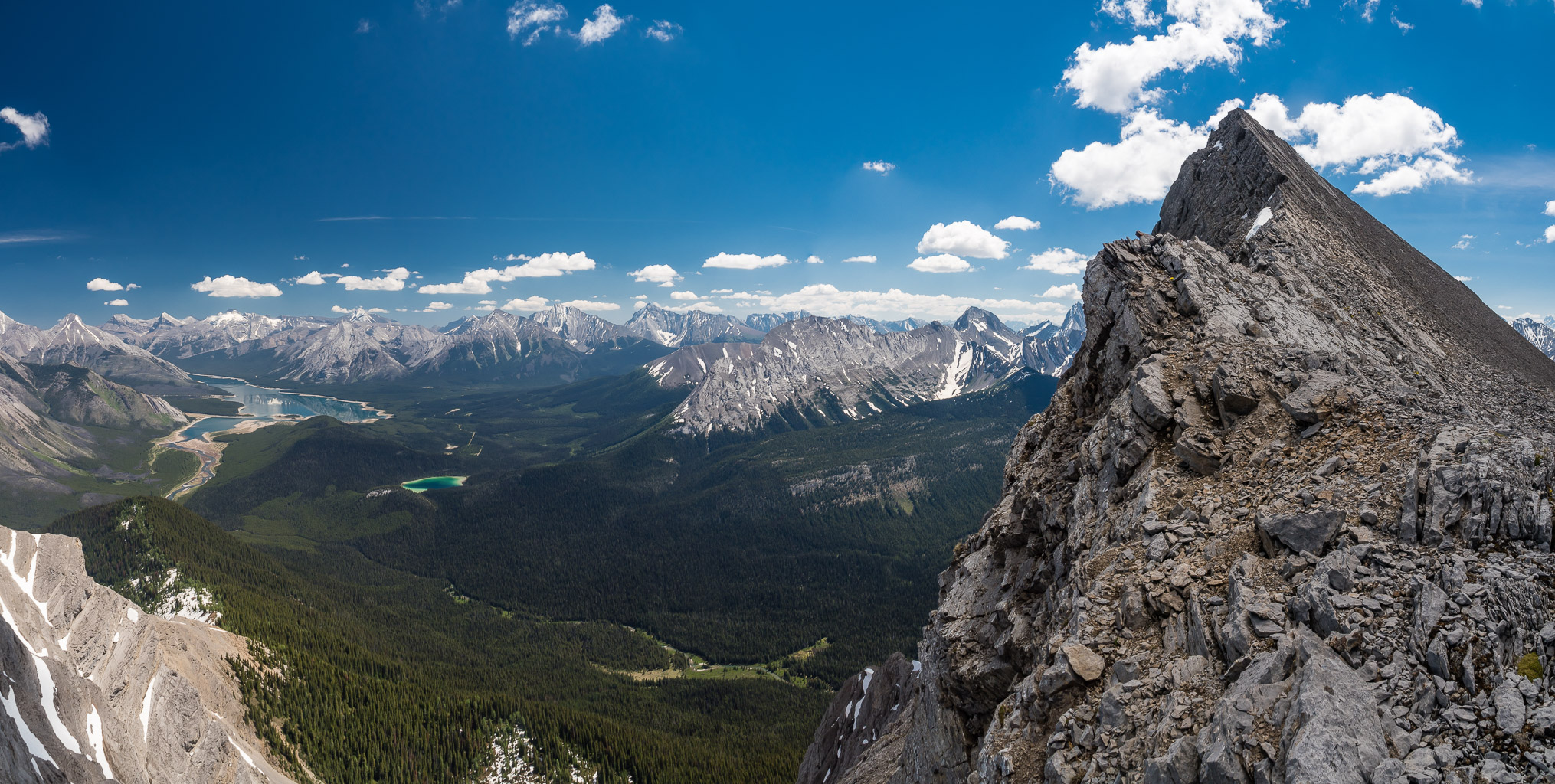 Looking back at the summit of Morrison - the ridge is pretty intimidating!