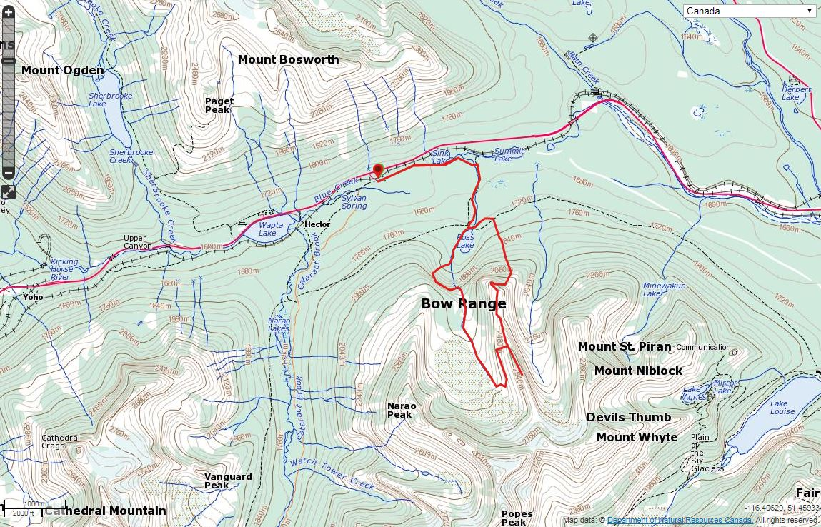 Divide Mountain Route Map